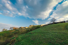 Hill near the Dnieper. River in April Royalty Free Stock Photos