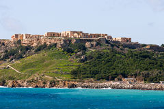 Hill near port of Mgarr on the small island of Gozo, Malta Royalty Free Stock Photography