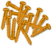 Hill of new screws Stock Image