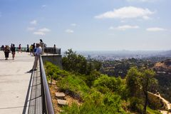 Hill observation point Stock Images