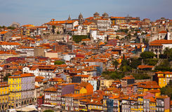 Hill with old town of Porto Stock Images