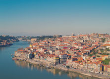 Hill with old town of Porto, Portugal Stock Photography