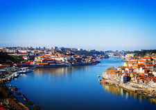 Hill with old town of Porto, Portugal Stock Photos