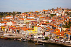 Hill with old town of Porto and river Douro, Portugal Royalty Free Stock Photo