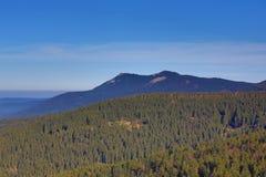 Hill Osser, Winter landscape around Bayerisch Eisenstein, ski resort, Bohemian Forest (Šumava), Germany Royalty Free Stock Image