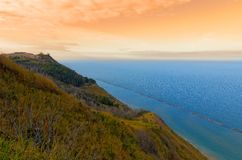 Hill over the sea Royalty Free Stock Photography