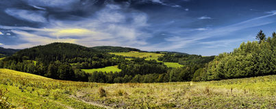 Hill panorama Royalty Free Stock Photography