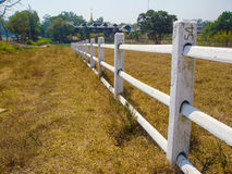 Hill park fence Stock Images