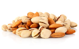 Hill of pistachio and almonds Stock Image