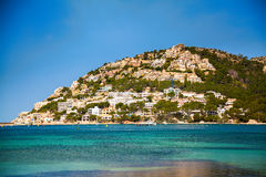 The hill in Port d'Andratx royalty free stock images