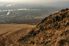 Hill Radobýl. Landscape from the top Radobýl Royalty Free Stock Photos