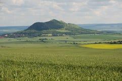 Hill Rana, Ceske Stredohori Royalty Free Stock Photo