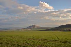 Hill Rana, Ceske Stredohori Stock Image