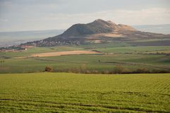Hill Rana, Ceske Stredohori Royalty Free Stock Photos