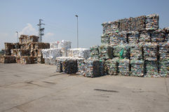 Hill of recycling garbage Royalty Free Stock Photos