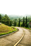 Hill Road. The car foothills of northern Thailand Royalty Free Stock Photo