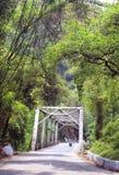 Hill road bridge Stock Image