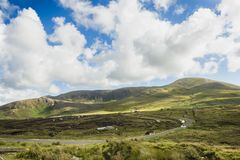 A hill road at Crocknamurrin, Co. Donegal.  royalty free stock photos