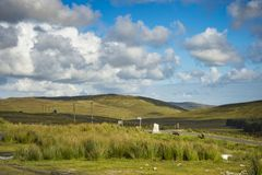 A hill road at Crocknamurrin, Co. Donegal.  royalty free stock images