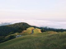 Hill Road Dusk Royalty Free Stock Images