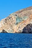 hill and rocks  summertime  santorini island Royalty Free Stock Images
