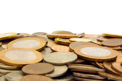 Hill of Russian coins Stock Photo