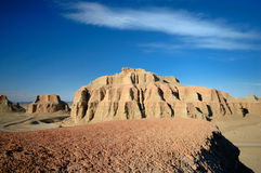 Hill of Sandstone. Located at the northwest of Xinjiang China, and 100 kilometers northeast of Karamay City, Urho Ghost Castle is also known as Wind City Stock Photos