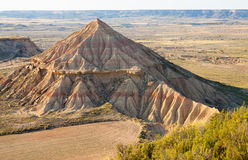 Hill at semi-desert landscape of bardenas reales natural park Stock Photo