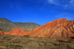 The hill of seven colors, cerro de los siete colores, at Purmamarca, Jujuy, Argentina. The hill of seven colors, cerro de los siete colores, at Purmamarca Royalty Free Stock Photo