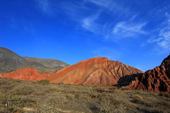 The hill of seven colors, cerro de los siete colores, at Purmamarca, Jujuy, Argentina. The hill of seven colors, cerro de los siete colores, at Purmamarca Royalty Free Stock Images