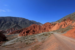 The hill of seven colors, cerro de los siete colores, at Purmamarca, Jujuy, Argentina. The hill of seven colors, cerro de los siete colores, at Purmamarca Royalty Free Stock Image