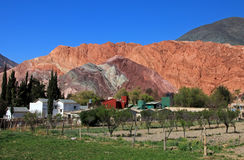 The hill of seven colors, cerro de los siete colores, at Purmamarca, Jujuy, Argentina. The hill of seven colors, cerro de los siete colores, at Purmamarca Stock Image