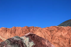 The hill of seven colors, cerro de los siete colores, at Purmamarca, Jujuy, Argentina. The hill of seven colors, cerro de los siete colores, at Purmamarca Royalty Free Stock Photos