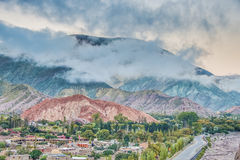 Hill of Seven Colors in Jujuy, Argentina. Stock Photo