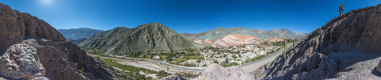 Hill of Seven Colors in Jujuy, Argentina. Royalty Free Stock Image