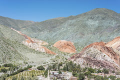 Hill of Seven Colors in Jujuy, Argentina. Stock Photos