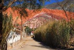 Hill seven colors, Purmamarca, Jujuy, Argentina. View of the hill 7 colors in the town of Purmamarca located in the Quebrada de Humahuaca, Jujuy, Argentina Royalty Free Stock Photo
