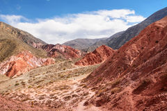 Hill of seven colours in Jujuy province Royalty Free Stock Photo