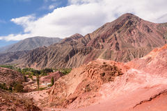 Hill of seven colours in Purmamarca Royalty Free Stock Photography