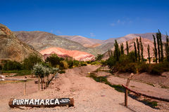 Hill of seven colours in Purmamarca Stock Image