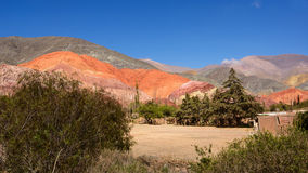The Hill of seven colours in Purmamarca Argentina Royalty Free Stock Image