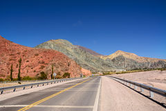Hill of seven colours in Purmamarca on Ruta 52 Argentina Royalty Free Stock Photos