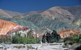 Hill of seven colours,Salta,Argentina Royalty Free Stock Images