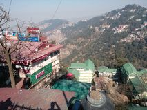 Hill of Shimla. One of the hill inside Shimla main city. Any one can see this place near Shimla Old Bus Stand Royalty Free Stock Image