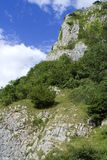 Hill Side. Beautiful view from the bottom of a cliff face in somerset uk Royalty Free Stock Image