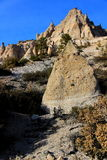 Hill side tent rocks Royalty Free Stock Images