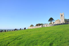 Hill of Slane. Ireland place of Saint Patrick Royalty Free Stock Photo