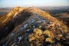 Hill Srdov, Ceske Stredohori Stock Images
