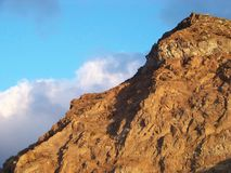 hill structure at the coast of Tenerife Royalty Free Stock Images