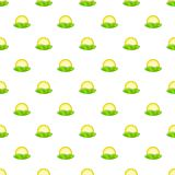 Hill and sun pattern, cartoon style. Hill and sun pattern. Cartoon illustration of hill and sun vector pattern for web Stock Photo